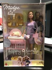 Happy Family NON-PREGNANT MIDGE AND BABY Barbie 2002 NRFB