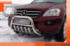 MERCEDES ML 2006-2011 PARE-BUFFLE BAS AVEC GRILLE DE PROTECTION CARTER EN INOX