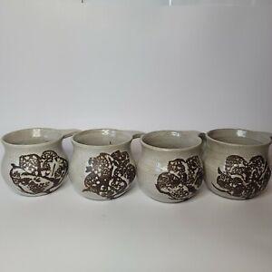 Vintage Ceramic Coffee Mugs Handmade 1980
