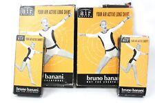 4 tlg Bruno Banani Damen 2x Air Active Shorty 2x Long Shirt Größe 42 Gelb Rot