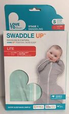 Love to Dream Swaddle Up Lite 0.2 tog Mint Stars Small- New, Free Shipping