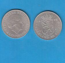 Pays-Bas Netherlands Juliana  10 Gulden en argent  1973 Silver Coin