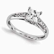 14K White Gold Diamond Engagement ring 1.64 carats F Vs2 -Princess Cut Channel