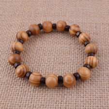 Fashion Men's Hand Beaded Bracelet Wood Grain Bangle Fashion Jewelry Gift 12mm