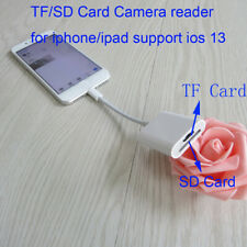 Memory Card Reader TF & SD Card Camera Reader Adapter for iPhone iPad ios 13