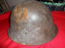Outstanding Collectible 1930's Argentina Army Swedish M26 Steel Helmet.Sale