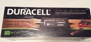 Duracell Ultra Automatic Battery Charger 7.5A 12V 24V SLC10005 New Sealed