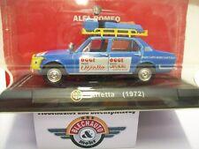 "Alfa Romeo Alfetta ""Testcar Raid Capo Sud-Nord"" 1973, Blau, RCS 1:43, OVP"