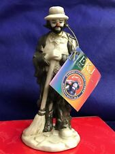 "Emmett Kelly Jr Miniature ""Sweeping Up"" Clown Flambro With Box and Coa"