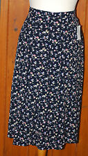 BNWT, Moffat Wollens, Ladies, Vintage, Ditsy, Pleated, Skirt, size 20
