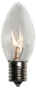25 C9 Clear Transparent Replacement Christmas Light Bulbs Holiday Wedding Party