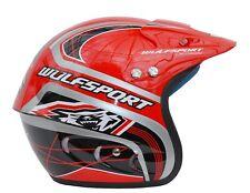 Wulfsport Airflo Helmet Red XL Motorbike Motocross MX Helmet Trials Lid