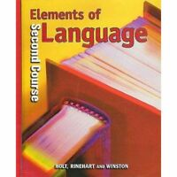 NEW Holt Elements of Language (Second Course): Student Edition Hardcover 2009