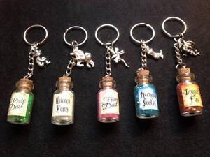 Novelty hand made key ring - Mermaid/fairy/pixie/unicorn/dragon. Free gift bag.