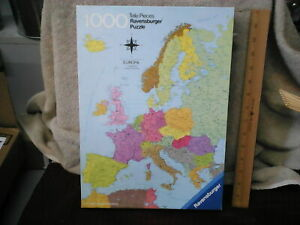Vintage 1977 Ravensburger Puzzle Europa Complete Used