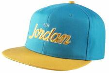 NIKE JORDAN PRO SCRIPT SNAPBACK CAP ADJUSTABLE FLAT BRIM BLUE YELLOW AV8448-433
