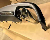 Audi A6 4G C7 11-15 rear bumper diffuser conversion S6 exhaust tips tail pipes S