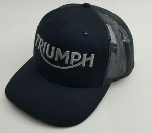 Triumph Motorcycle Logo Ver 2 Embroidered Baseball Hat,Cap Black Richardson 112