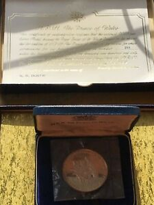 1969 PRINCE OF WALES INVESTITURE 110 gr .999 FINE SILVER MEDAL STILL MINT SEALED