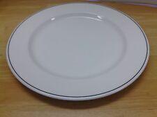 "ROYAL DOULTON CHINA CAPITAL BLACK WHITE W/ BLACK 10-5/8"" DINNER PLATE HOTELWARE"
