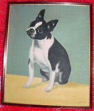 ***Bakjo BOSTON TERRIER Original Art Oil on Canvas Painting***