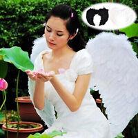 Fashion Feather Wings Angel Fairy Fancy Dress Costume Halloween Party Favor FLHN