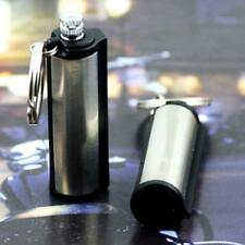 New Silver Tone Stainless Steel Permanent Match Waterproof Lighter Key Chain OE