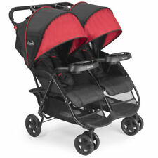 Kolcraft 2018 Cloud Plus Double Stroller Stroller in Black / Red Brand New!!