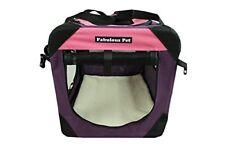 """48""""Fabulous Pet 3-Door Folding Soft Crate, Indoor & Outdoor Pet Home Pink"""