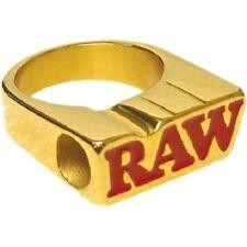 Anillo de humo Raw Chapado en Oro 24K