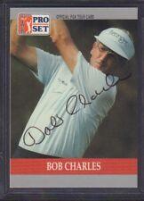 Bob Charles 1990 PGA Tour Pro Set # 88 autographié signé jhpsg
