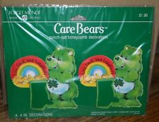 2 Packs Vintage Good Luck Care Bear Punch Out Honeycomb Decorations UnOpen 1985