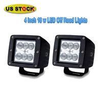 Club Car Golf Cart 2Pcs 4Inch 36W LED Light Bar Spot Offroad Driving Fog Lamp