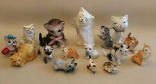 Collection divers bibelots céramique statues chats