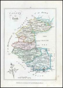 1776 IRELAND - Rare engraved antique map of LOUTH by Bernard Scale (BS2/27)