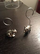 Set Of Pig And Frog Picture Holders
