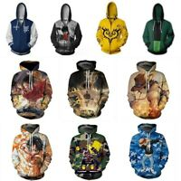 Anime ONE PIECE Roronoa Zoro Zipper Hoodie Sweatshirt Hooded Jacket Pullover