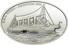 Liberia 2005 Titanic 10 Dollars Enchase Coal Silver Coin,Proof