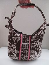 Vera Bradley Imperial Toile Brown & White with Pink Accent Purse Handbag