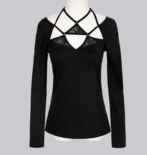 Long Sleeve Halter Tops & Blouses for Women