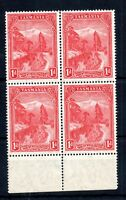 Tasmania 1899 1d MNH block Perf 14 SG#230 WS14586
