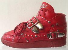 Espiga de Cuero zapatos botas de Michael Jackson La Gear Billie Jean Hi Tops Zapatillas 5