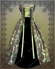 Victorian Civil War Steampunk Green Edwardian Gothic Fairy History Dress Gown 1X