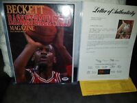 PSA Rookie Basketball Beckett MICHAEL JORDAN AUTO PSA LOA an receipt 1of1 Ebay
