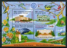 Kazakhstan 2018 MNH West Kazakhstan Region 2v M/S Architecture Tourism Stamps