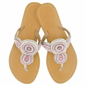 NEW Girls' leather sandals in pink Girl's by Annie Clare