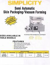 Used Simplicity Semi Automatic Skin Packaging Machine - tax deduction