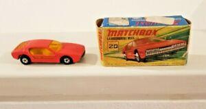 Matchbox Superfast Lamborghini Marzal No 20 England Boxed Lesney 1969