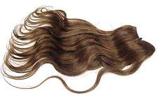 Haarverlängerung ECHTHAAR TRESSE 30 cm mittelbraun gewellt hair weft extensions