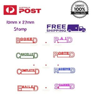 Posted Paid Booked Personalised Name Signature Rubber Flash Self Inking Stamp